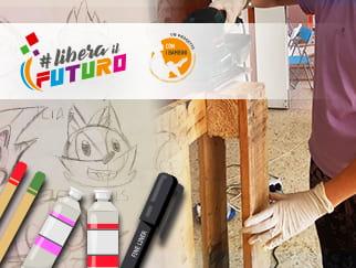 Il laboratorio di fumetto e il laboratorio creativo di Muncraft, centro di aggregazione giovanile di Libera Il Futuro